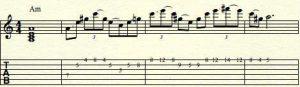 a-minor-guitar improvisation