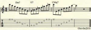 c-major-progression jazz lick