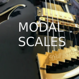 Modal scales for guitar
